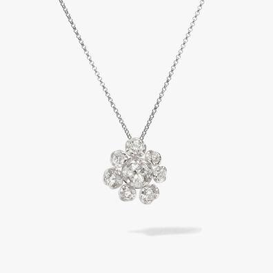 Marguerite 18ct White Gold Diamond Large Necklace
