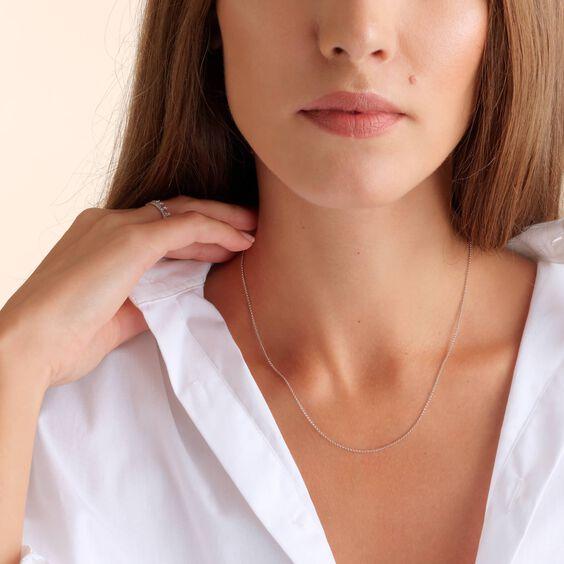 14ct White Gold Classic Short Chain | Annoushka jewelley