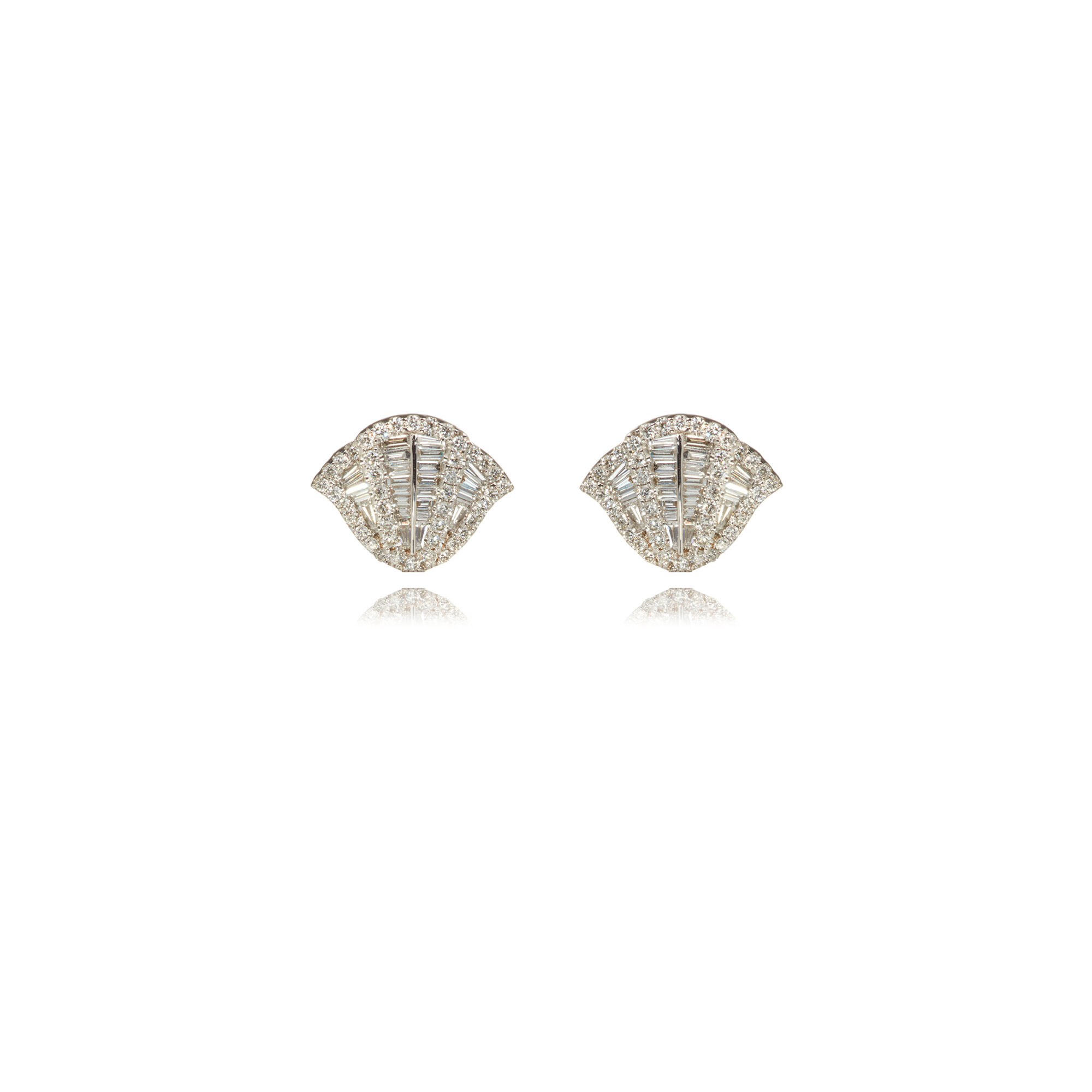 Flamenco 18ct White Gold 0 72 Ct Diamond Stud Earrings