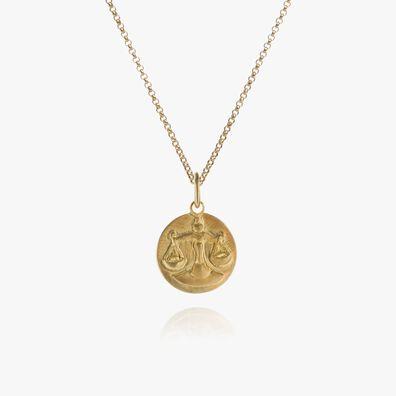Mythology 18kt Gold Libra Necklace