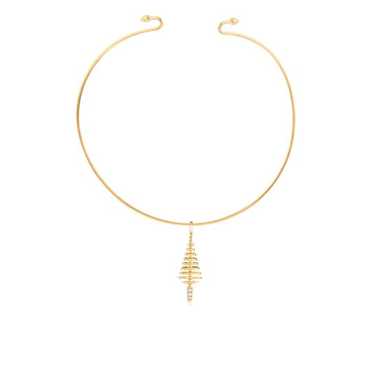 Garden Party 18ct Gold Diamond Choker Necklace | Annoushka jewelley