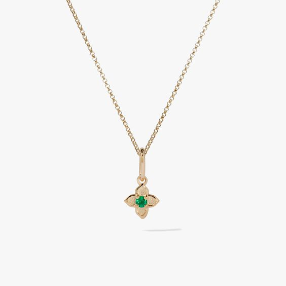 Tokens 14ct Gold Emerald Necklace