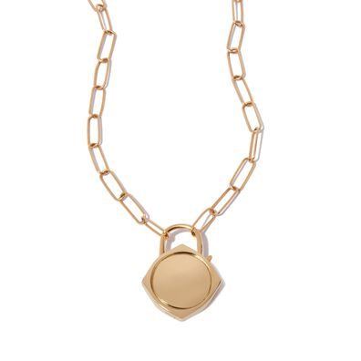 Lovelock 14ct Gold Mini Cable Chain Charm Necklace
