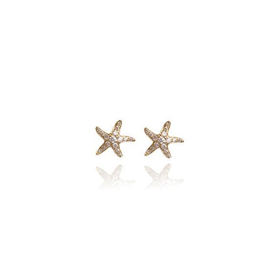 Love Diamonds 18ct Gold Diamond Starfish Studs | Annoushka jewelley