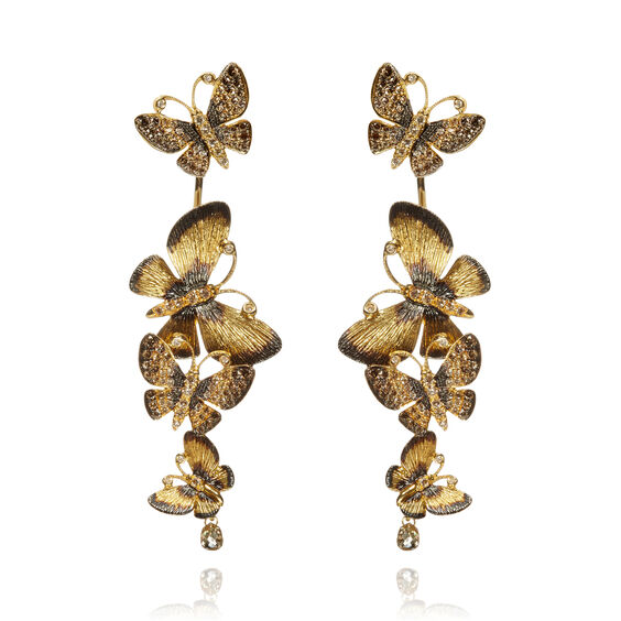 Butterflies 18ct Gold Diamond Drop Earrings | Annoushka jewelley