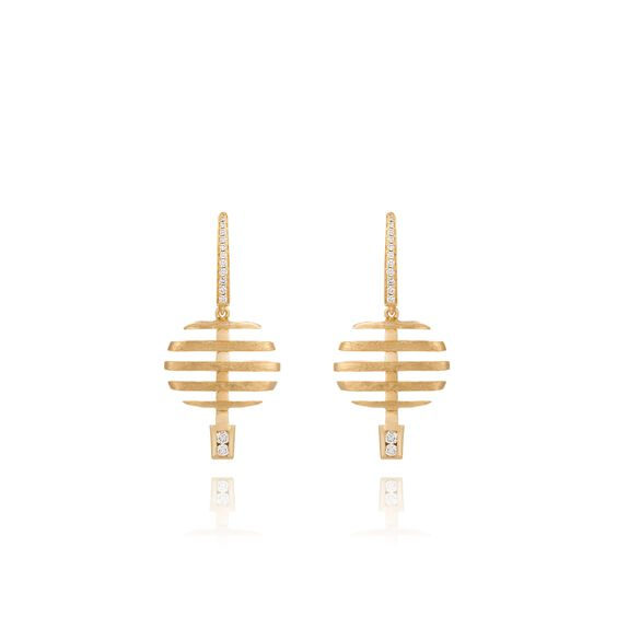 Garden Party 18ct Gold Diamond Small Earrings | Annoushka jewelley