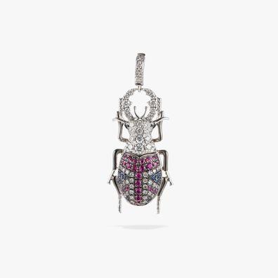 Mythology 18ct White Gold British Beetle Charm