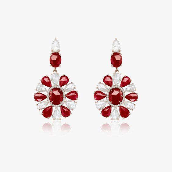 Sutra Ruby & Diamond Earrings | Annoushka jewelley