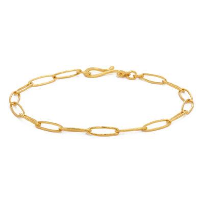 18ct Gold Organza Charm Bracelet