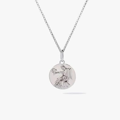 Mythology 18ct White Gold Virgo Necklace