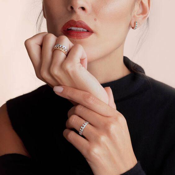 Crown 18ct White Gold Diamond Ring | Annoushka jewelley