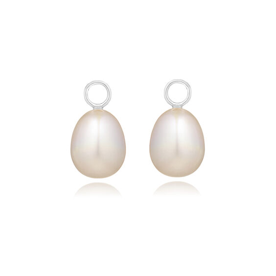 18ct White Gold Baroque Pearl Earring Drops | Annoushka jewelley
