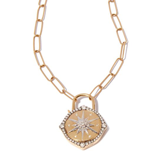 Lovelock 14ct Gold Mini Cable Chain Star Charm Necklace | Annoushka jewelley