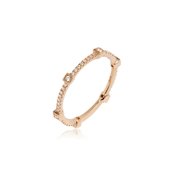 Pavilion 18ct Rose Gold Diamond Eternity Ring | Annoushka jewelley