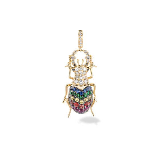 Mythology 18ct Gold Rainbow Beetle Charm | Annoushka jewelley