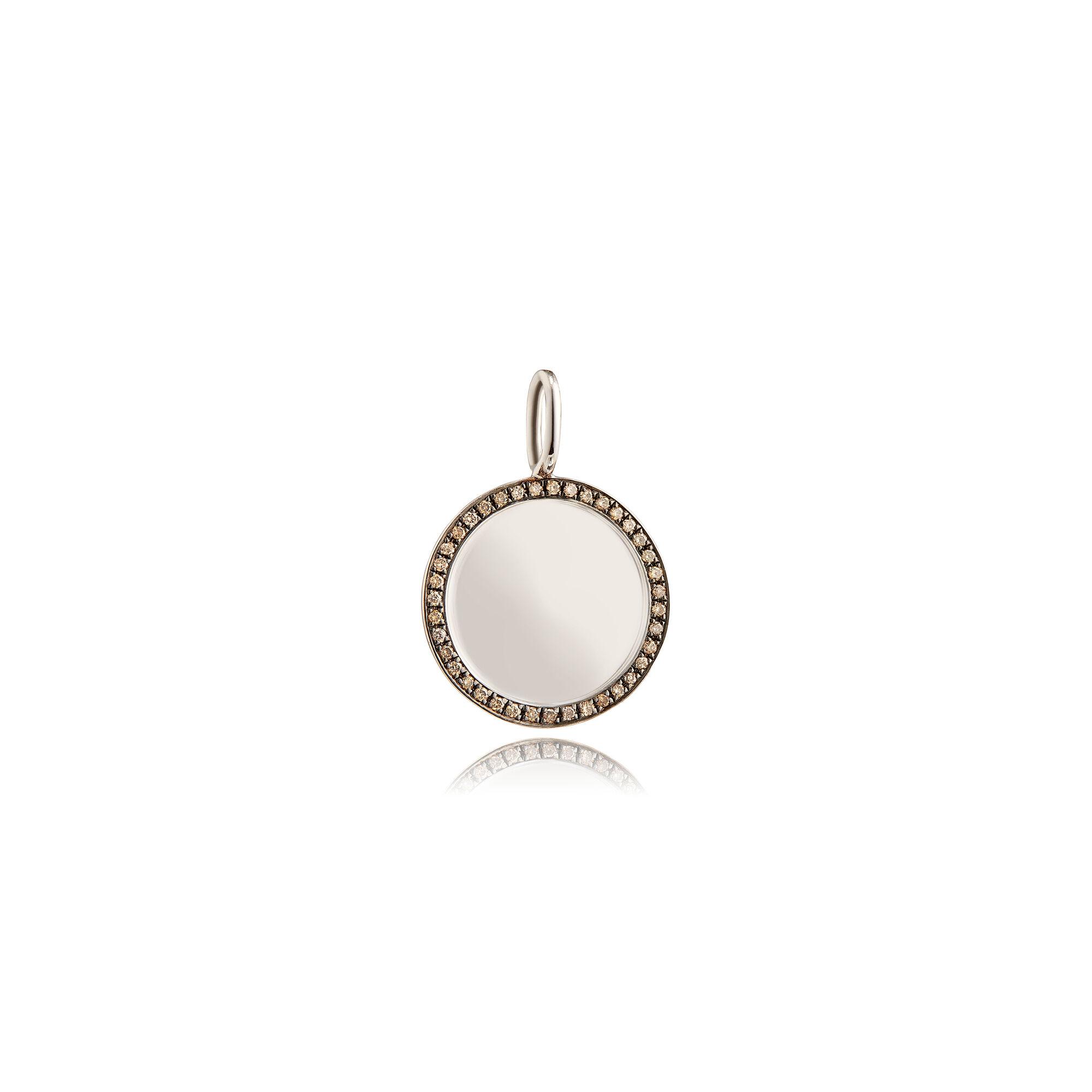 ae16ea652212d Mythology 18ct White Gold Pavé Diamond Disc