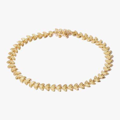 18ct Gold & Diamond Vine Bracelet