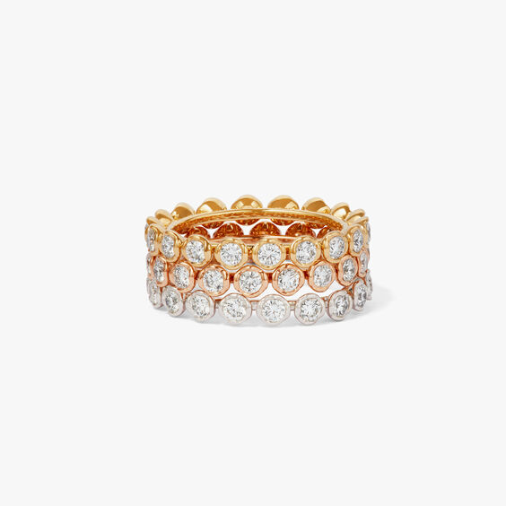 Marguerite 18ct Gold And Diamond Eternity Ring Stack