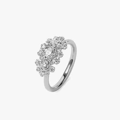 Marguerite 18ct White Gold Triple Diamond Ring