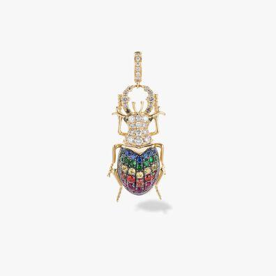 Mythology 18ct Gold Rainbow Beetle Charm