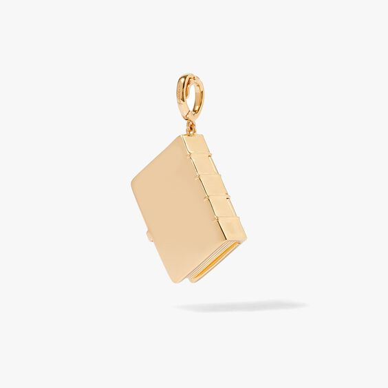 Mythology 18ct Gold Diamond Book Locket Charm | Annoushka jewelley