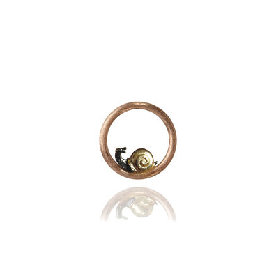 18ct Rose Gold Snail Hoopla