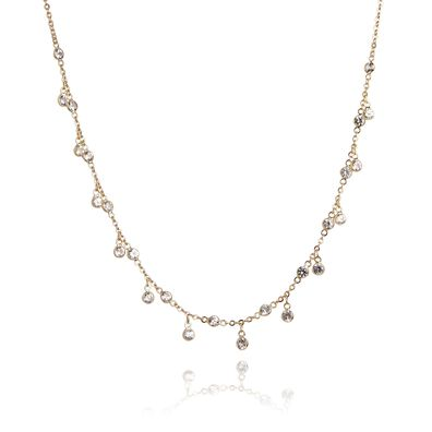 Nectar 18ct Gold White Sapphire Necklace