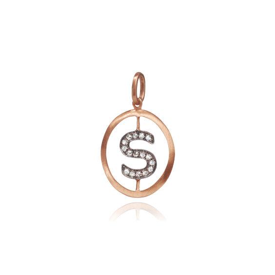 18ct Rose Gold Initial S Pendant