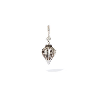 Unique 18ct White Gold Diamond Charm