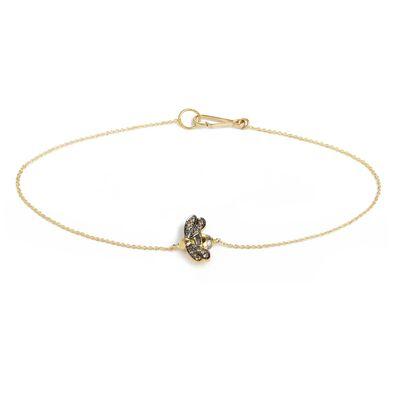 Love Diamonds 18ct Gold Diamond Bee Bracelet