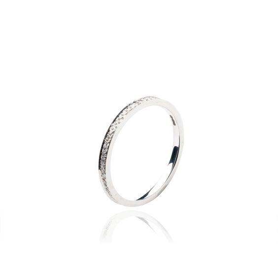 Eclipse 18ct White Gold Diamond Eternity Ring | Annoushka jewelley