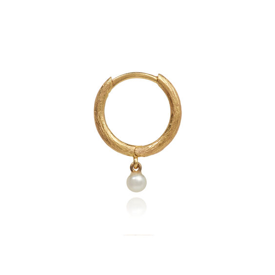 Hoopla 18ct Gold Pearl Hoop Earring