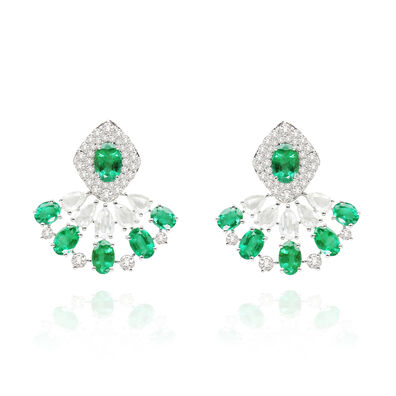 Sutra Emerald Earrings