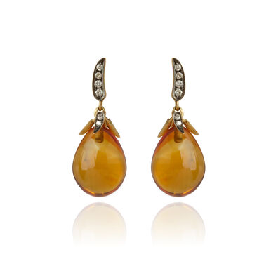 Chilli Sunset 18ct Gold Citrine Earrings