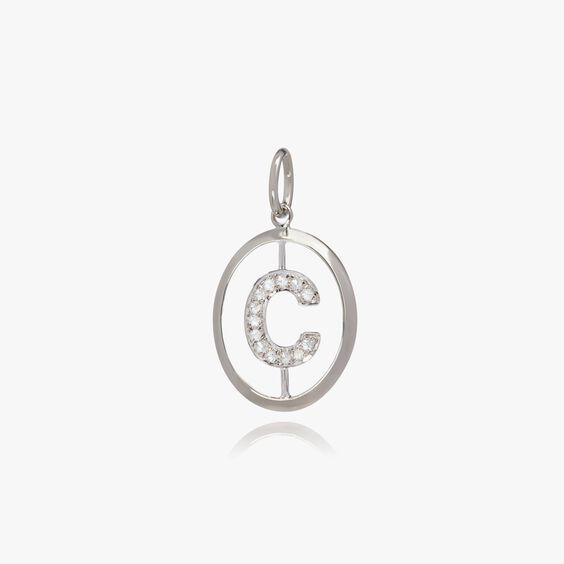 18ct White Gold Initial C Pendant | Annoushka jewelley