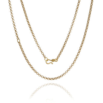18ct Gold Belcher Long Chain