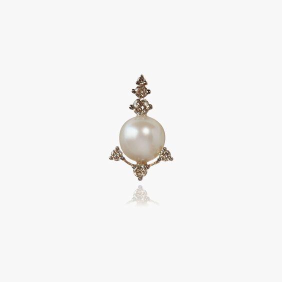Diamonds & Pearls 18ct Rose Gold Single Stud | Annoushka jewelley