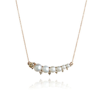 Diamonds & Pearls 18ct Rose Gold Necklace