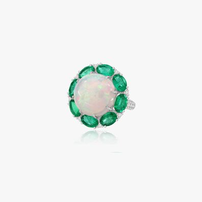 Sutra Opal & Emerald Ring