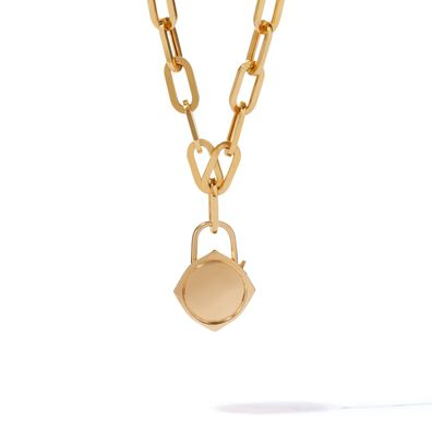 Lovelock 18ct Gold Cable Chain Charm Necklace