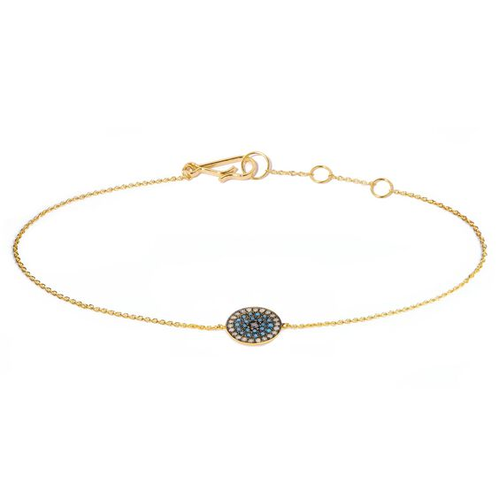 Love Diamonds 18ct Gold Diamond Evil Eye Bracelet | Annoushka jewelley