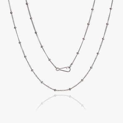 14ct White Gold Saturn Short Chain