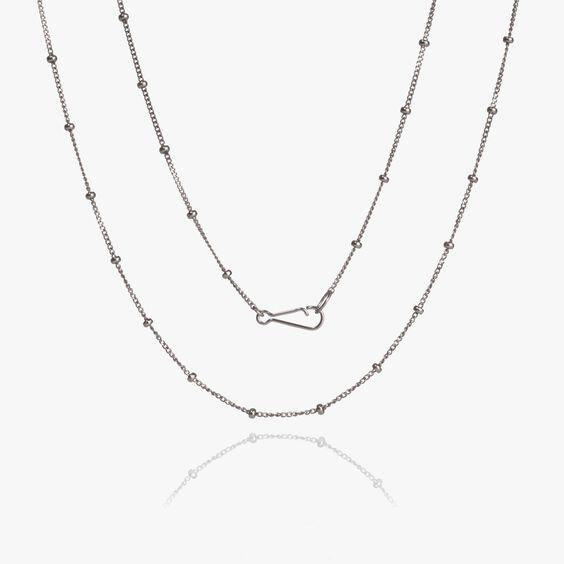 14ct White Gold Saturn Short Chain | Annoushka jewelley