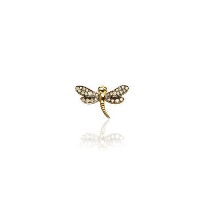 Love Diamonds 18ct Gold Diamond Dragonfly Right Single Stud