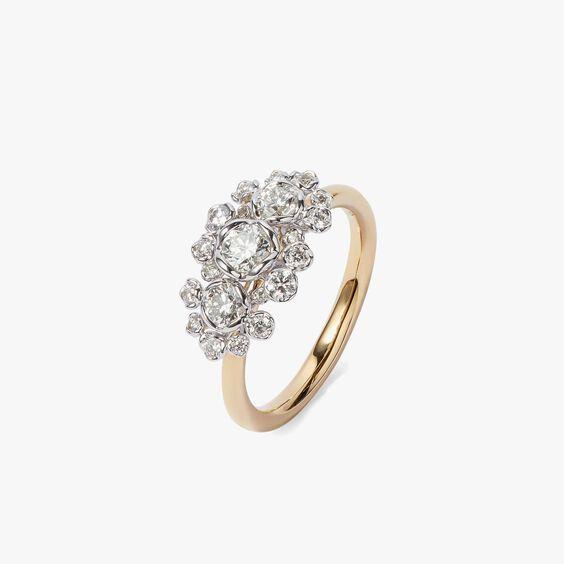 Marguerite 18ct Gold Triple 0.25ct Diamond Ring