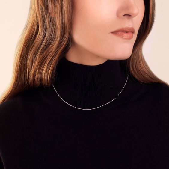 18ct White Gold Saturn Short Chain | Annoushka jewelley