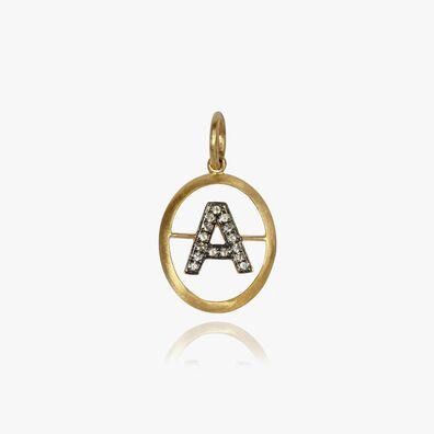 18ct Gold Diamond Initial A Pendant