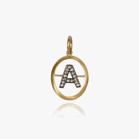 18ct Gold Diamond Initial A Pendant | Annoushka jewelley