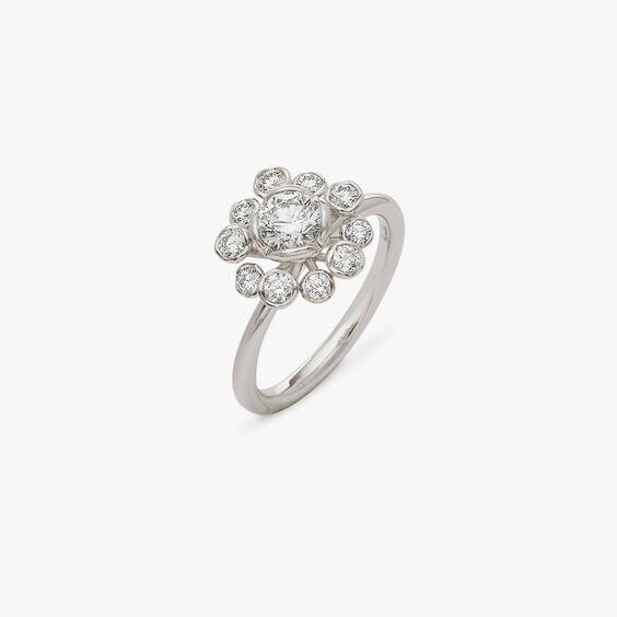 Marguerite 18ct White Gold 0.50ct Diamond Ring | Annoushka jewelley