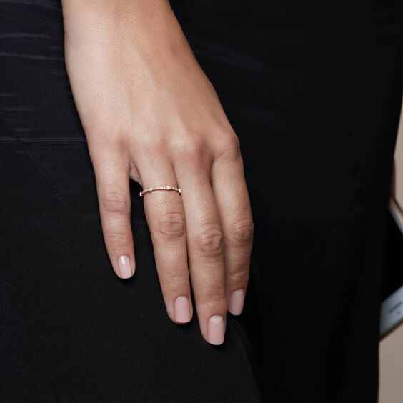 Pavilion 18ct Gold Diamond Eternity Ring | Annoushka jewelley
